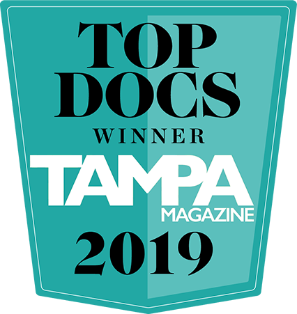 Top Doctor Winner 2019 - Tampa Magazine